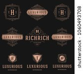 luxury logos templates set ... | Shutterstock .eps vector #1060493708