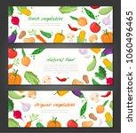 natural food   set of modern... | Shutterstock .eps vector #1060496465