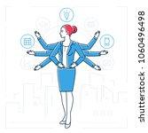 multitasking   line design... | Shutterstock .eps vector #1060496498