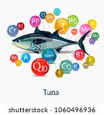 tuna. micronutrient content ... | Shutterstock .eps vector #1060496936