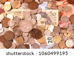 old gold and silver coins and... | Shutterstock . vector #1060499195