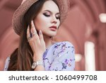 outdoor close up portrait of... | Shutterstock . vector #1060499708