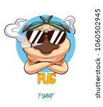 pug life. print on t shirts ... | Shutterstock .eps vector #1060502945