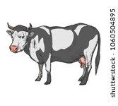 cow farm animal isolated on... | Shutterstock .eps vector #1060504895