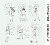 vector sketch people monochrome ... | Shutterstock .eps vector #1060506086