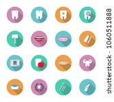 dental and teeth health in flat ... | Shutterstock .eps vector #1060511888