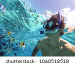 bora bora  french polynesia.... | Shutterstock . vector #1060518518