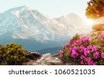unsurpassed sunrise in the... | Shutterstock . vector #1060521035