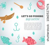 fishing background. big catch... | Shutterstock .eps vector #1060527476