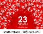 23 nisan cocuk baryrami.... | Shutterstock .eps vector #1060531628