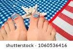 marine nail design.pedicure... | Shutterstock . vector #1060536416