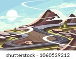 mountain asphalt road... | Shutterstock .eps vector #1060539212