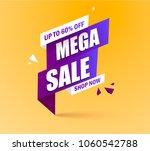 sale banner template design ... | Shutterstock .eps vector #1060542788