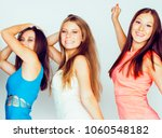 many girlfriends hugging... | Shutterstock . vector #1060548182