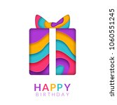 happy birthday greeting card... | Shutterstock .eps vector #1060551245