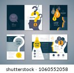 cover book design set  colorful ... | Shutterstock .eps vector #1060552058