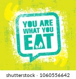 you are what you eat. healthy... | Shutterstock .eps vector #1060556642
