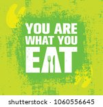 you are what you eat. healthy... | Shutterstock .eps vector #1060556645