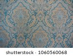 blue and orange classic damask... | Shutterstock . vector #1060560068