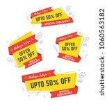 festival offer  sale sticker ... | Shutterstock .eps vector #1060563182