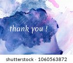 thank you on watercolor... | Shutterstock . vector #1060563872