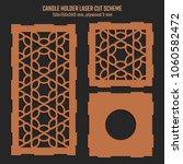 diy laser cutting vector scheme ... | Shutterstock .eps vector #1060582472