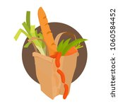 paper bag with healthy... | Shutterstock .eps vector #1060584452