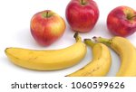 bunch of bananas isolated on... | Shutterstock . vector #1060599626