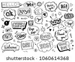 hand drawn set of speech... | Shutterstock .eps vector #1060614368