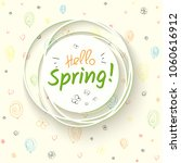white banner with text hello... | Shutterstock .eps vector #1060616912