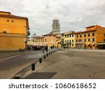 the leaning tower of pisa from... | Shutterstock . vector #1060618652