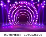 show light podium purple... | Shutterstock .eps vector #1060626908