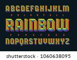 colorful typeface with bright... | Shutterstock .eps vector #1060638095