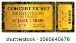 concert ticket template  golden ... | Shutterstock .eps vector #1060640678
