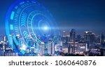 smart city and technology...   Shutterstock . vector #1060640876