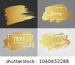 vector gold paint stroke with... | Shutterstock .eps vector #1060652288