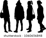 silhouette of a woman.   Shutterstock . vector #1060656848