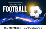 soccer ball with light effects. ... | Shutterstock .eps vector #1060663076