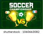 soccer championship poster... | Shutterstock .eps vector #1060663082