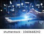 candlestick chart. stock market ... | Shutterstock . vector #1060668242