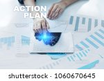 action plan on the virtual... | Shutterstock . vector #1060670645