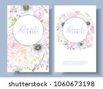 vector botanical banners with... | Shutterstock .eps vector #1060673198
