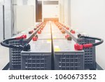 battery pack in battery room in ... | Shutterstock . vector #1060673552