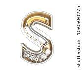 mechanic alphabet  letter s on... | Shutterstock . vector #1060680275