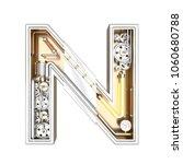 mechanic alphabet  letter n on... | Shutterstock . vector #1060680788
