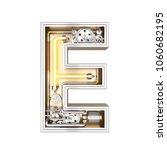 mechanic alphabet  letter e on... | Shutterstock . vector #1060682195