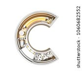 mechanic alphabet  letter c on... | Shutterstock . vector #1060682552