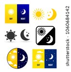 day night theme. set of vector... | Shutterstock .eps vector #1060684142