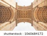 the arc de triomphe in paris ... | Shutterstock . vector #1060684172