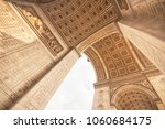 the arc de triomphe in paris ... | Shutterstock . vector #1060684175